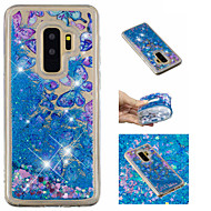 Недорогие Чехлы и кейсы для Galaxy S9-Кейс для Назначение SSamsung Galaxy S9 Plus / S9 Движущаяся жидкость / С узором / Сияние и блеск Кейс на заднюю панель Бабочка / Сияние и блеск Мягкий ТПУ для S9 / S9 Plus / S8 Plus