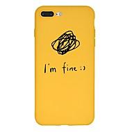 Недорогие Кейсы для iPhone 8-Кейс для Назначение Apple iPhone X / iPhone 8 Plus С узором Кейс на заднюю панель Слова / выражения / Мультипликация Мягкий ТПУ для iPhone X / iPhone 8 Pluss / iPhone 8