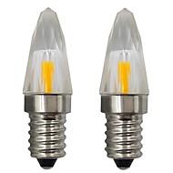 お買い得  LED キャンドルライト-3wはクリスタルキャンドル電球を導いたe14ベース1505コブsmd家庭用照明室内壁ライトAC 110v 120v暖かい/冷たい白(2個)