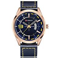 abordables Relojes Formales-Hombre Reloj de Vestir Calendario / Cronógrafo / Resistente al Agua Cuero Auténtico Banda Casual / Moda Negro / Blanco / Azul
