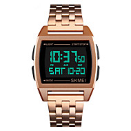 SKMEI Ανδρικά Αθλητικό Ρολόι Ρολόι Καρπού Ψηφιακό ρολόι Ιαπωνικά Ψηφιακό Ανοξείδωτο Ατσάλι Μαύρο / Ασημί / Χρυσό 30 m Συναγερμός Ημερολόγιο Χρονογράφος Ψηφιακό Πολυτέλεια Μοντέρνα -  / Ενας χρόνος