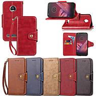 preiswerte Handyhüllen-Hülle Für Motorola Z2 play / G5 Plus Geldbeutel / Kreditkartenfächer / mit Halterung Ganzkörper-Gehäuse Solide Hart PU-Leder für Moto Z2 play / Moto G5s Plus / Moto G5s