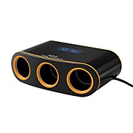 Car Charger 3 Sockets Cigarette Lighter 12V 2 USB Ports Power Adapter DC Outlet Splitter