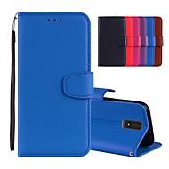 お買い得  携帯電話ケース-ケース 用途 OnePlus OnePlus 6 / 5 カードホルダー / スタンド付き / フリップ フルボディーケース ソリッド ハード PUレザー のために OnePlus 6 / One Plus 5 / One Plus 3
