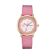 cheap -Women's Wrist Watch Chinese Casual Watch Plastic Band Flower / Fashion Black / White / Red