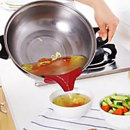 お買い得  キッチン用小物-1個 キッチンツール シリカゲル クリエイティブキッチンガジェット ツール / 漏斗