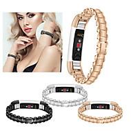 Недорогие Аксессуары для смарт-часов-Ремешок для часов для Fitbit Alta HR / Fitbit Alta Fitbit Спортивный ремешок / Дизайн украшения Нержавеющая сталь Повязка на запястье