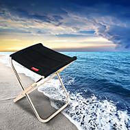 abordables Muebles de Acampada-Sille plegable para camping Al aire libre Ligeras, Mini Tejido Oxford, Aleación de aluminio para Pesca / Camping - 1 Persona Negro