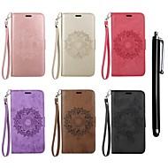 Недорогие Чехлы и кейсы для Galaxy S9 Plus-Кейс для Назначение SSamsung Galaxy S9 / S8 Кошелек / Бумажник для карт / со стендом Чехол Мандала Твердый Кожа PU для S9 / S9 Plus / S8 Plus