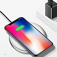 abordables Cargadores para iPod-nueve cinco nt3 universal de aleación de zinc de cuero qi cargador inalámbrico para apple iphone x iphone8 samsung s8 s7