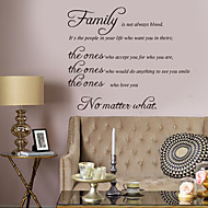 cheap Household Great Promotion-Decorative Wall Stickers - Words & Quotes Wall Stickers Characters Living Room / Bedroom / Bathroom