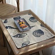 abordables Salvamanteles-Moderno Poliéster Elástico Tejido de 100g / m2 Cuadrado Juego de Mesa Geométrico Decoraciones de mesa 2 pcs