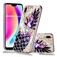 お買い得  携帯電話ケース-ケース 用途 Huawei P20 / P20 lite クリア / パターン バックカバー 果物 ソフト TPU のために Huawei P20 / Huawei P20 Pro / Huawei P20 lite