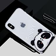 Недорогие Кейсы для iPhone 8-Кейс для Назначение Apple iPhone X / iPhone 8 С узором Кейс на заднюю панель Панда Мягкий ТПУ для iPhone X / iPhone 8 Pluss / iPhone 8