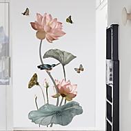 preiswerte -Dekorative Wand Sticker - Flugzeug-Wand Sticker Blumenmuster / Botanisch Schlafzimmer