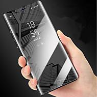Недорогие Чехлы и кейсы для Galaxy Note-Кейс для Назначение SSamsung Galaxy Note 9 / Note 8 со стендом / Покрытие / Зеркальная поверхность Чехол Однотонный Твердый ПК для Note 9 / Note 8 / Note 5