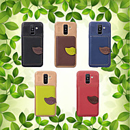 cheap -Case For Samsung Galaxy A8 Plus 2018 / A6+ (2018) Card Holder / with Stand / Flip Back Cover Plants Hard PU Leather for A5(2018) / A7(2018) / A8 2018