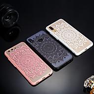 お買い得  携帯電話ケース-ケース 用途 Huawei P20 / P20 lite つや消し / 半透明 / エンボス加工 バックカバー レース印刷 ハード アクリル のために Huawei P20 / Huawei P20 Pro / Huawei P20 lite / P10 Plus / P10 Lite / P10
