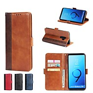 Недорогие Чехлы и кейсы для Galaxy S8 Plus-Кейс для Назначение SSamsung Galaxy S9 Plus / S8 Plus Кошелек / Бумажник для карт / со стендом Чехол Плитка Твердый Кожа PU для S9 / S9 Plus / S8 Plus