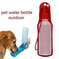 お買い得  ペット用品 & アクセサリー-0.03-0.05 L 犬用 / 猫用 餌入れ / 水入れ ペット用 ボウル&摂食 携帯用 / 屋外 レッド / ブルー / ピンク