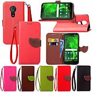 cheap -Case For Motorola Moto G6 Plus / MOTO G5 Plus Card Holder / with Stand / Flip Full Body Cases Plants Hard PU Leather for Moto Z2 play / MOTO G6 / Moto G5s
