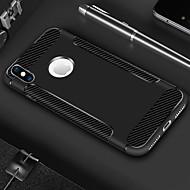 Недорогие Кейсы для iPhone 8 Plus-Кейс для Назначение Apple iPhone X / iPhone 8 Plus Защита от удара / Матовое Кейс на заднюю панель Однотонный / Полосы / волосы Мягкий ТПУ для iPhone X / iPhone 8 Pluss / iPhone 8