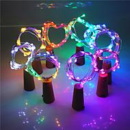 2m Flexible LED Light Strips 20 LEDs EL Warm White / White / Pink Creative / Decorative / Cool 3 V 1 set / IP44