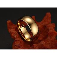 בגדי ריקוד גברים קלאסי מסוגנן טבעת פשוט בסיסי אופנתי Fashion Ring תכשיטים זהב עבור חתונה נשף מסכות מסיבה אלגנטית נשף רקודים רחוב מועדונים 6 / 7 / 8 / 9 / 10