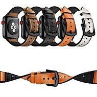Klockarmband för Apple Watch Series 4/3/2/1 Apple Läderloop Äkta Läder Handledsrem