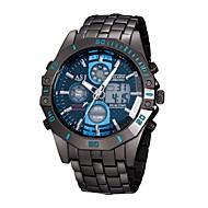ASJ Ανδρικά Αθλητικό Ρολόι Ψηφιακό ρολόι Ιαπωνικά Χαλαζίας Ανοξείδωτο Ατσάλι Μαύρο 30 m Ανθεκτικό στο Νερό Ημερολόγιο Χρονογράφος Αναλογικό-Ψηφιακό Πολυτέλεια Μοντέρνα - Λευκό Μπλε / Νυχτερινή λάμψη