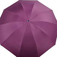 abordables Accesorios para la Lluvia-Tejido Todo Soleado y lluvioso Paraguas de Doblar