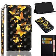 Недорогие Кейсы для iPhone 8 Plus-Кейс для Назначение Apple iPhone XS / iPhone XS Max С узором Чехол Бабочка Твердый Кожа PU для iPhone XS / iPhone XR / iPhone XS Max