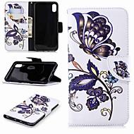 Недорогие Кейсы для iPhone 8-Кейс для Назначение Apple iPhone XR / iPhone XS Max Кошелек / Бумажник для карт / со стендом Чехол Бабочка Твердый Кожа PU для iPhone XS / iPhone XR / iPhone XS Max