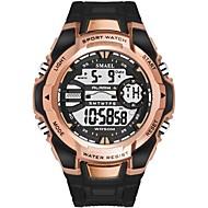 levne -SMAEL Pánské Sportovní hodinky Digitální hodinky japonština Digitální Silikon Černá / Tmavozelená 50 m Voděodolné Kalendář Svítící Digitální Na běžné nošení Módní - Tmavě zelená Černá / Růžové zlato