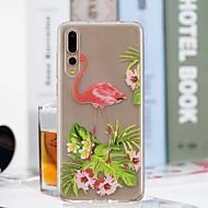 お買い得  携帯電話ケース-ケース 用途 Huawei P20 Pro / P20 lite クリア / パターン バックカバー フラミンゴ ソフト TPU のために Huawei P20 / Huawei P20 Pro / Huawei P20 lite