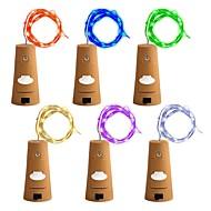 Χαμηλού Κόστους Φωτολωρίδες LED-zdm 6pcs μπουκάλια φώτα νεράιδα συμβολοσειρά οδήγησε φώτα 78 ίντσες / 2 m σύρμα χαλκού 20 λαμπτήρες οδήγησε κατάλληλο συμβαλλόμενο μέρος γάμο φεστιβάλ χριστουγεννιάτικο δέντρο decoratioz