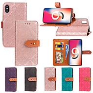 Недорогие Кейсы для iPhone 8 Plus-Кейс для Назначение Apple iPhone XR / iPhone XS Max Кошелек / Бумажник для карт / со стендом Чехол Плитка Твердый Кожа PU для iPhone XS / iPhone XR / iPhone XS Max