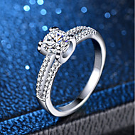 cheap -Women's Classic Ring - Platinum Plated, Imitation Diamond Love Classic, Romantic 6 / 7 / 8 / 9 / 10 Silver For Wedding Engagement