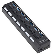 preiswerte USB Hubs & Switches-7 USB-Hub EU Stecker / US Stecker USB 3.0 High-Speed / Mit Switch (es) Daten-Hub