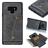 Недорогие Чехлы и кейсы для Galaxy Note-CaseMe Кейс для Назначение SSamsung Galaxy S9 Plus / Note 9 Бумажник для карт / Защита от удара Кейс на заднюю панель Однотонный Твердый Кожа PU для S9 / S9 Plus / S8 Plus