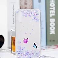 お買い得  携帯電話ケース-ケース 用途 Huawei P20 Pro / P20 lite クリア / パターン バックカバー バタフライ / フラワー ソフト TPU のために Huawei P20 / Huawei P20 Pro / Huawei P20 lite