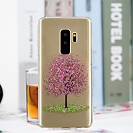 Недорогие Чехлы и кейсы для Galaxy S-Кейс для Назначение SSamsung Galaxy S9 Plus / S9 Прозрачный / С узором Кейс на заднюю панель дерево Мягкий ТПУ для S9 / S9 Plus / S8 Plus