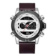 levne -SMAEL Pánské Sportovní hodinky Digitální hodinky japonština Japonské Quartz Pravá kůže Černá / Hnědá 50 m Voděodolné Kalendář Chronograf Analog - Digitál Módní - Černá / hnědá Černá / Stříbrná