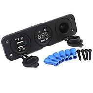 Недорогие Автомобильные зарядные устройства-Автомобиль Автомобильное зарядное устройство 2 USB порта для 5 V