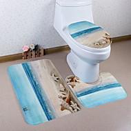 abordables Alfombras y moquetas-3 Piezas Modern Esteras de Baño Poliéster Elástico Tejido de 100g / m2 Geométrico Irregular Baño Cool