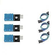 お買い得  Arduino 用アクセサリー-arduinoラズベリーパイ2 3のための3pcs dht11温度と湿度センサーモジュール