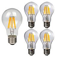 voordelige LED-gloeilampen-5 stuks 8W 760lm E26 / E27 LED-gloeilampen A60 (A19) 8 LED-kralen COB Decoratief Warm wit Koel wit 220-240V