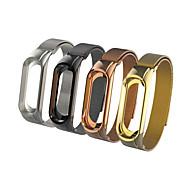 Недорогие Ремешки для часов Xiaomi-Ремешок для часов для Mi Band 3 Xiaomi Спортивный ремешок Нержавеющая сталь Повязка на запястье