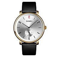 cheap -SKMEI Men's Dress Watch Wrist Watch Quartz 30 m Water Resistant / Water Proof New Design Casual Watch Genuine Leather Band Analog Casual Fashion Black - Silver Blue Golden One Year Battery Life