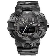 levne -SMAEL Pánské Sportovní hodinky Digitální hodinky japonština Japonské Quartz Z umělé kůže Černá / Khaki 50 m Voděodolné Kalendář Chronograf Analog - Digitál Módní - Černá Khaki / Stopky / Svítící